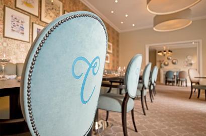 Exquisite interior at Clevedon Restaurant